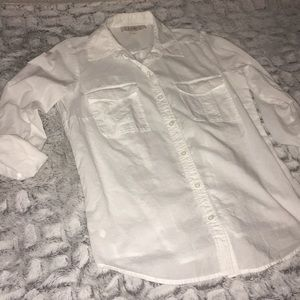 Ann Taylor Loft White Button Down Shirt